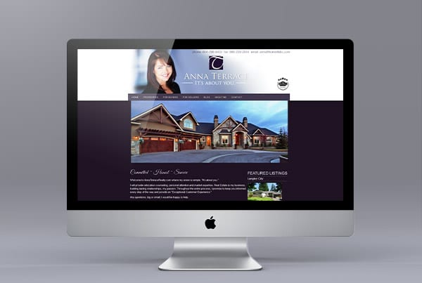 Website Design for Anna Terrace
