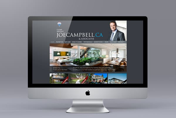 Website Design for Joe Campbell