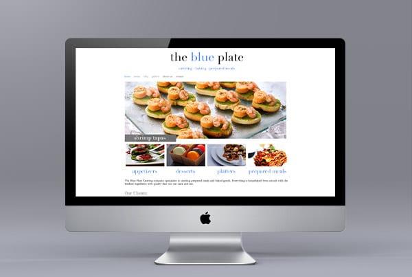 The Blue Plate Website Design