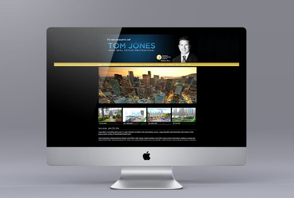 Tom Jones Website Design