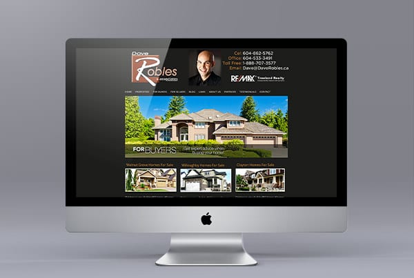 Website Design for Dave Robles