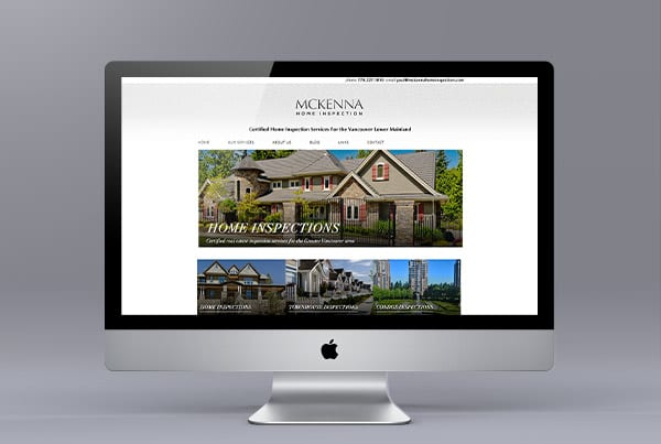 McKenna Home Inspections Web Design