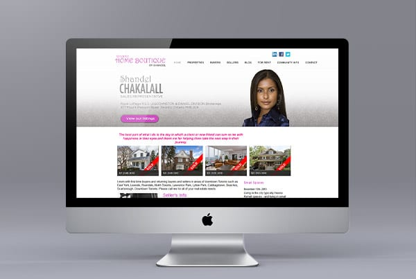 Website Design for Shandel Chakalall