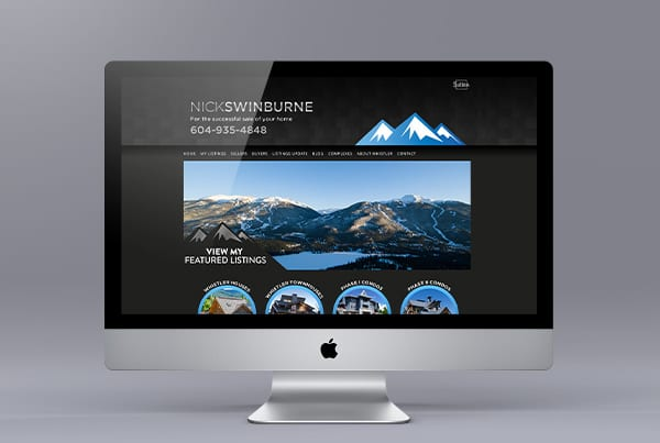 Nick Swinburne Website Design
