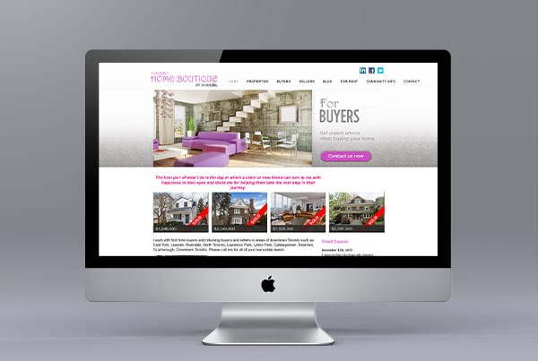 Toronto Home Boutique Website Design