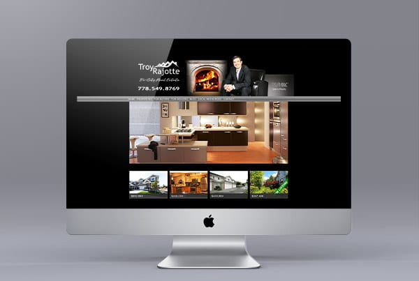 Website Design for Troy Rajotte