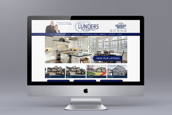 The Lunders Ubertor Website Design
