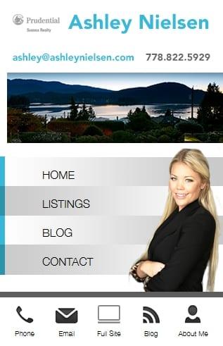 Ashley Nielsen New Custom Mobile Website