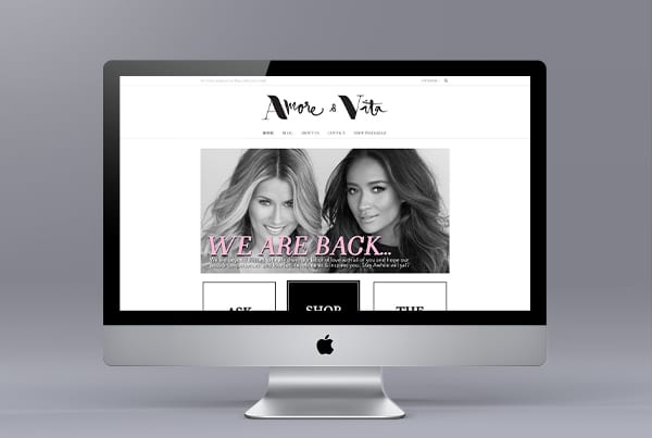 Amore and Vita WordPress Website