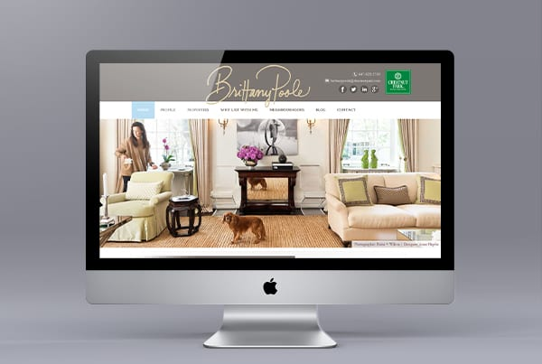 Website for Toronto Realtor Brittany Poole