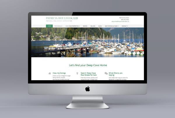 Ubertor Website Makeover for Patricia Houlihan and Deep Cove Homes