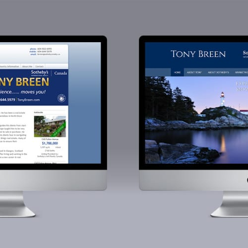 Tony Breen Ubertor Website makeover