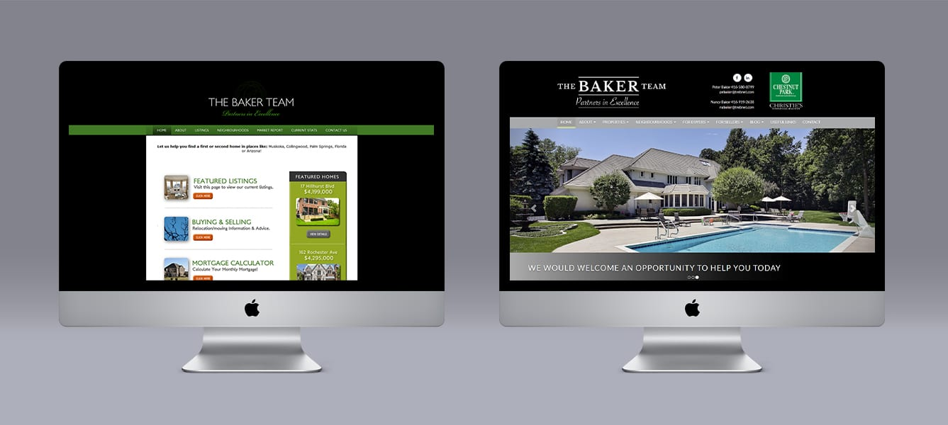 Baker Team Limelight Marketing website design using Ubertor CMS