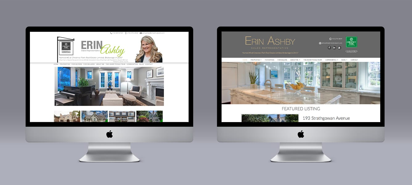 Erin Ashby Ubertor Website makeover