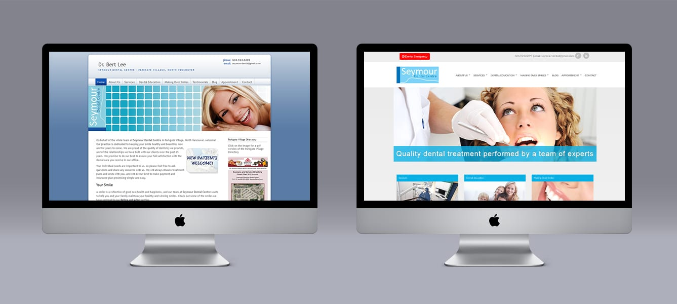 Seymour Dental Ubertor Website makeover